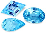 Loose Blue Zircons